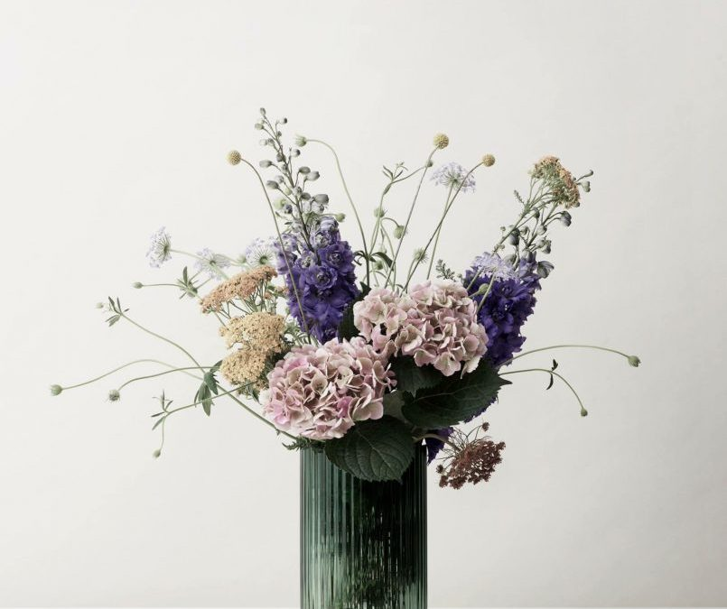 Lyngby vase Copenhagen green - By Lyngby Porcelain