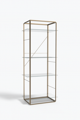 Florence+Shelf,+Large+Raw+Gold+Clear+Glass - By New Works