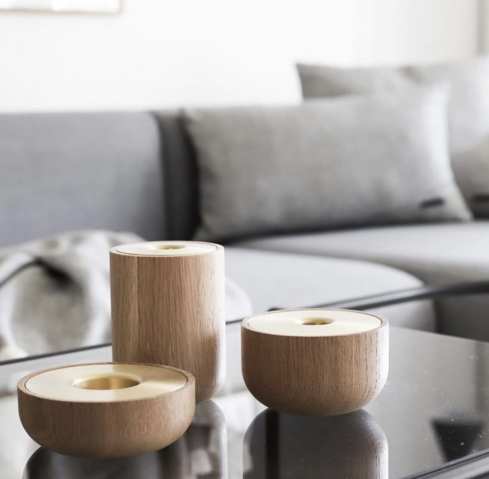 Oak Nordic candle holder by Andersen - Designed by Louise Siig