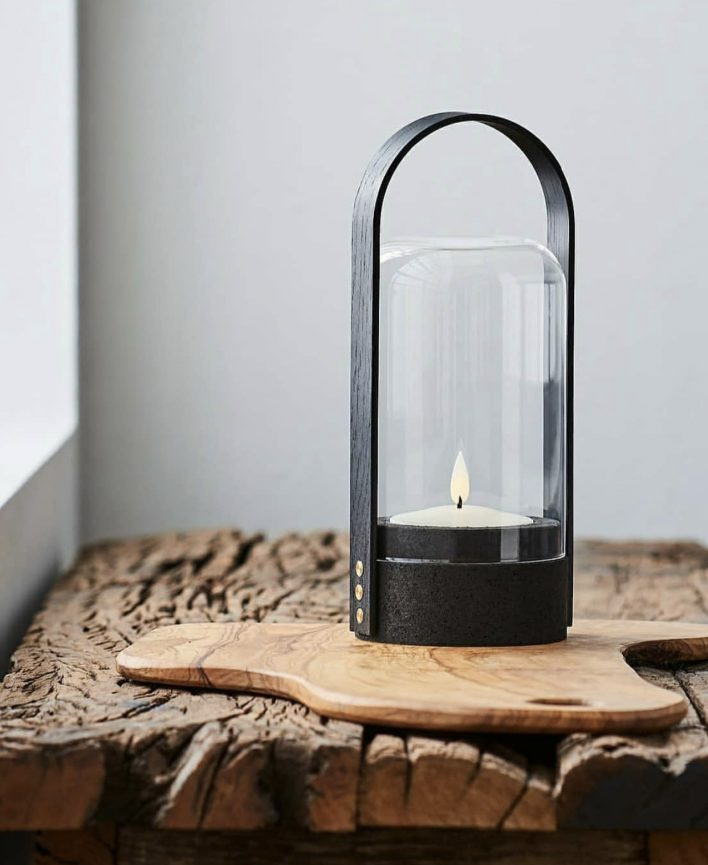 Candle light by Le Klint - black cork & black oak handleDesign Philip Bro