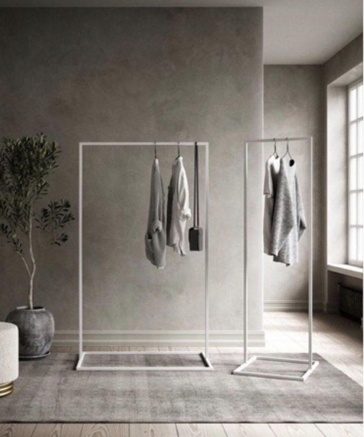 Cloth rack by Rikke Malling - White powder coated steel