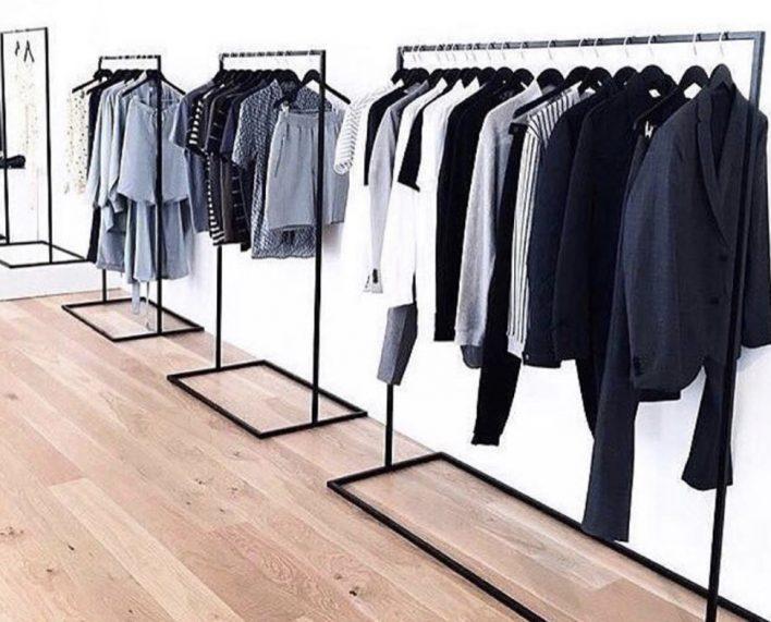 Cloth rack by Rikke Malling - Black powder coated steel